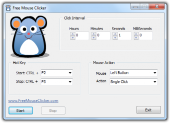Free Mouse Clicker Screenshot